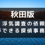 秋田県の探偵のイメージ画像